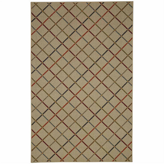 Mohawk Home Soho Alistar Plaid Printed Rectangular Indoor Rugs