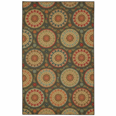 Mohawk Home Soho Amias Medallion Printed Rectangular Indoor Area Rug