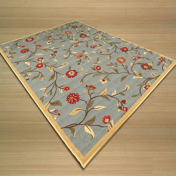 Eastern Rugs Machine-Made Transitional Floral Euro Home Rug
