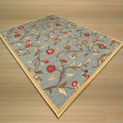 Eastern Rugs Machine-Made Transitional Floral EuroHome Rug