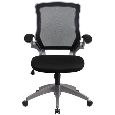 Mid-Back Mesh Swivel Task Chair with Gray Frame and Flip-Up Arms