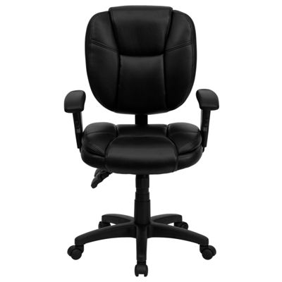 Mid-Back Multifunction Ergonomic Swivel Task Chairwith Adjustable Arms
