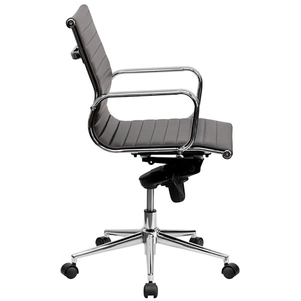 Mid Back Contemporary Leather Office Chair