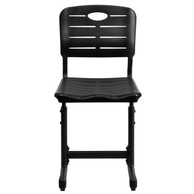 Adjustable Height Student Chair with Pedestal Frame