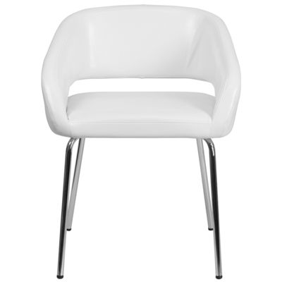 Fusion Series Contemporary Leather Side ReceptionChair