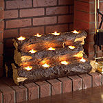Resin Tealight Electric Fireplace Insert