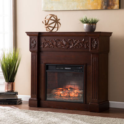Carved Electric Fireplace