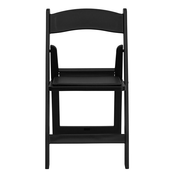 HERCULES Series 1000 lb. Capacity Folding Chair with Black Vinyl Padded Seat