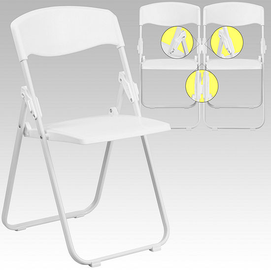 Hercules Series 880 Lb Capacity Heavy Duty Plastic Folding Chair With Built In Ganging Brackets