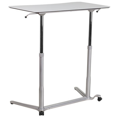 Sit-Down, Stand-Up Computer Desk with 37.375''W Top (Adjustable Range 29'' - 40.75'')