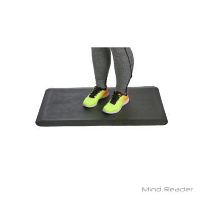 Mind Reader Anti-Fatigue Comfort Standing Desk Floor Mat, Black