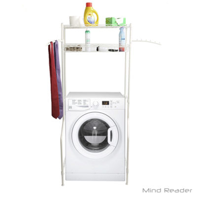 Mind Reader Laundry Utility Washing Machine Shelf and Rack, White