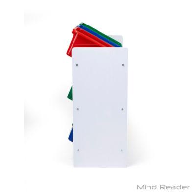 Mind Reader 3 Tier Storage Bin Toy Organizer, White