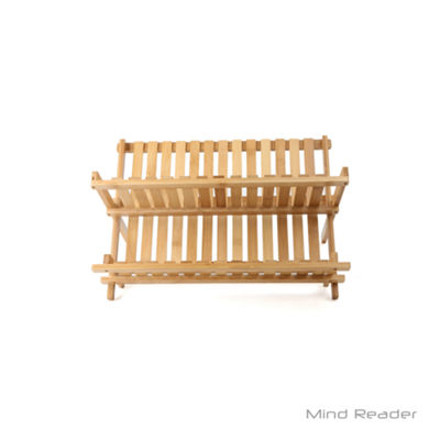 Mind Reader Bamboo Dish Drying Rack, Brown