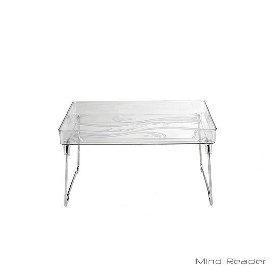 Mind Reader Acrylic Greenery 2 Tier Shelf, Clear