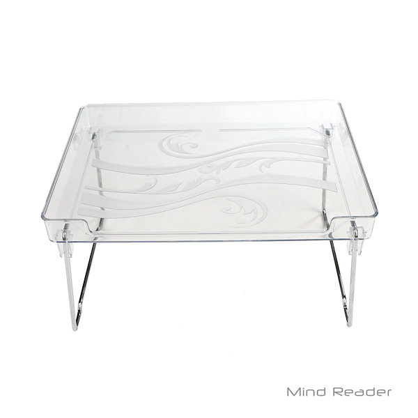 Mind Reader Acrylic Greenery 2 Tier Shelf, Clear