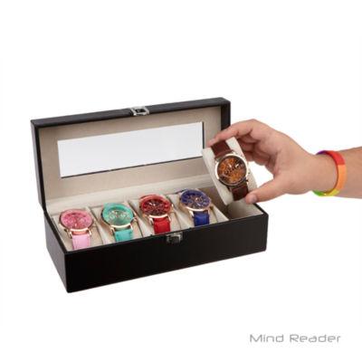 Mind Reader Single Row Watch Box Holder, Black