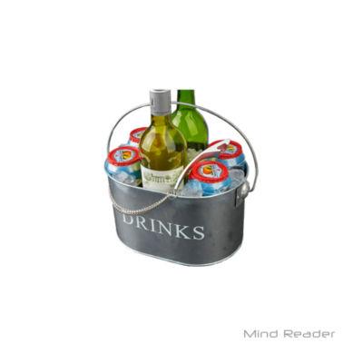 Mind Reader Metal Oval Beverage Holder with Bottle Opener, Silver