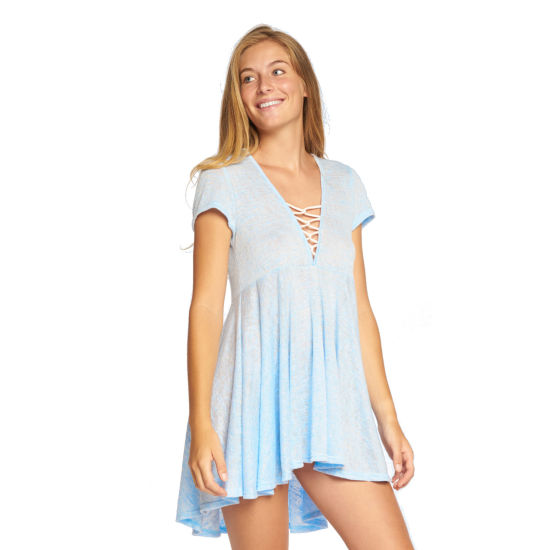 Beach Habitat Anuhea Cap Sleeve Lace Up Dress