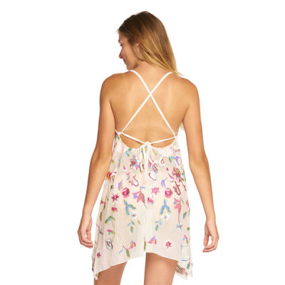 Beach Habitat Oasis Embroidered Tank Dress