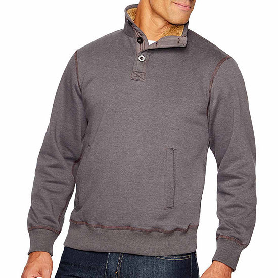 Smith Workwear Sherpa Lined Sweater Fleece Pullover