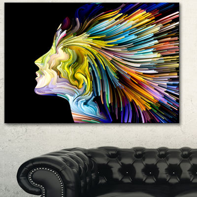 Designart Endless Imagination Abstract Canvas ArtPrint