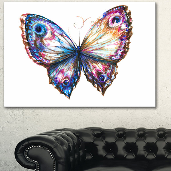 Designart Isolated Butterfly Animal Art On Canvas