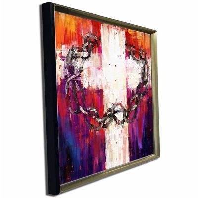 Designart Crown Of Thorns Abstract Canvas Art Print