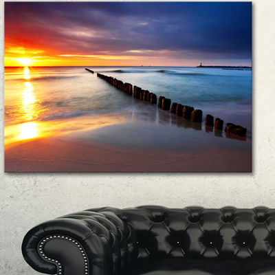 Designart Baltic Sea Poland Beach Photography Canvas Art Print