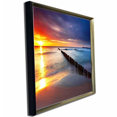 Designart Baltic Sea Poland Beach Photography Canvas Art Print
