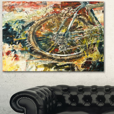 Design Art Mountain Bike Oil Painting Abstract Canvas Artwork