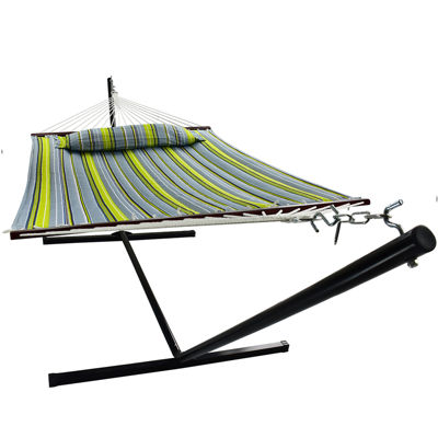 Sorbus Hammock with Spreader Bars and Detachable Pillow (Hammock with Stand)