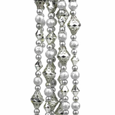 8' Dazzling Diva Shiny and Matte Beaded Christmas Garland