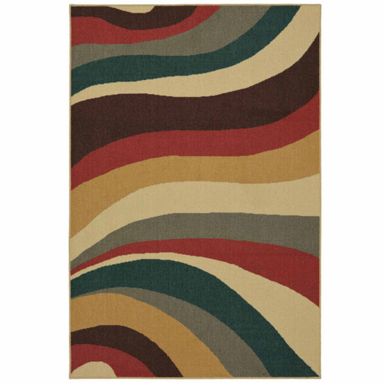 Mohawk Home Soho Wave Impression Printed Rectangular Rugs