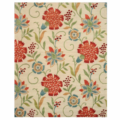 Eastern Rugs Hand-tufted Transitional Floral Spring Garden Rug