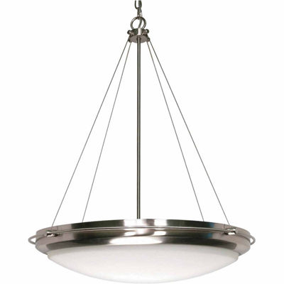 Filament Design 3-Light Brushed Nickel Pendant