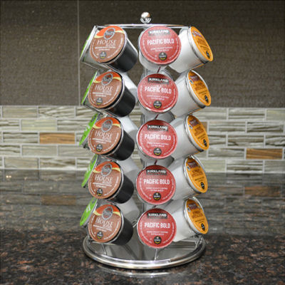 Coffee Pod K- Cup storage spinning Carousel (holds 35 cups)