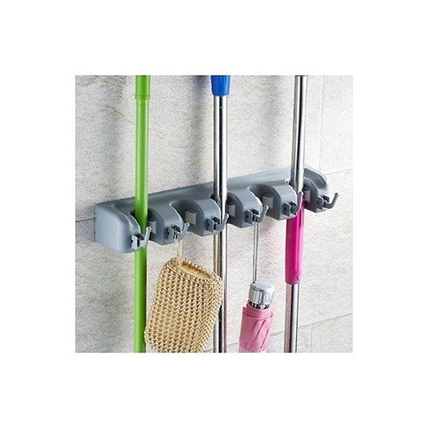 Sorbus Broom and Mop Storage Organizer, Wall Mounted Organizer and Storage, Ideal for the Garage Home, Closet, and Shed, Can Hold up to 11 Different Type of Tools Like Mops Brooms Rakes Shovels Brushes Baseball Bats and Hats Great Quality Tool Rack