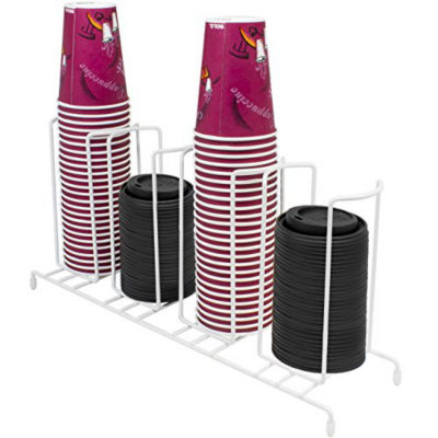 Sorbus Cup and Lid Organizer, Great for Office, Convenience Store, Coffee Shop, Buffet, and more, 4 Section Rack