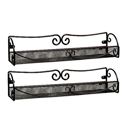 Sorbus Spice Racks and Multi-Purpose Organizers - 2 Pc Wall Mounted Storage Racks
