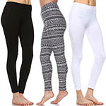 White Mark Women's Plus Size Legging-Pack of 3 (One Size Fits Most)