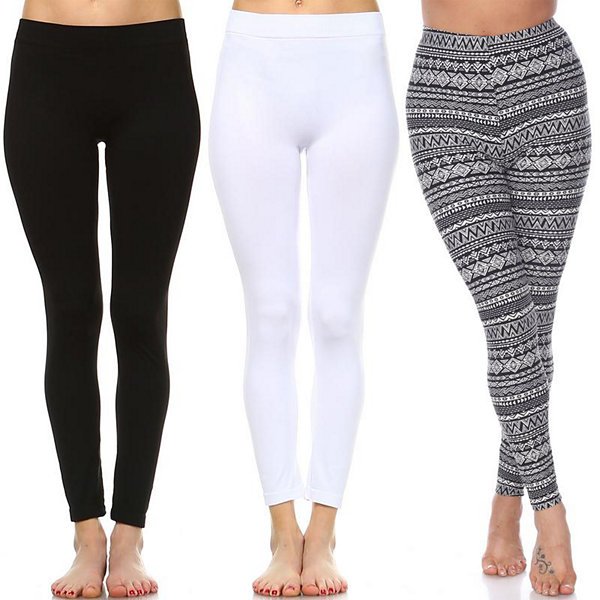 00f5a7f9166 White Mark Women s Plus Size Legging-Pack of 3 (One Size Fits Most)