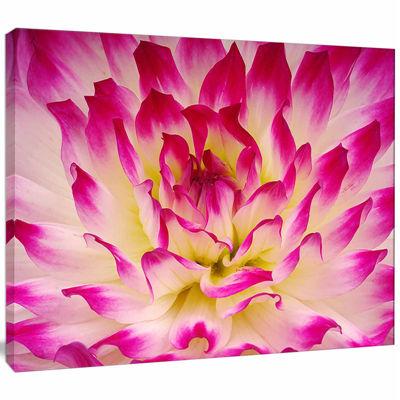 Design Art Smooth Purple White Flower Petals Canvas Art Print