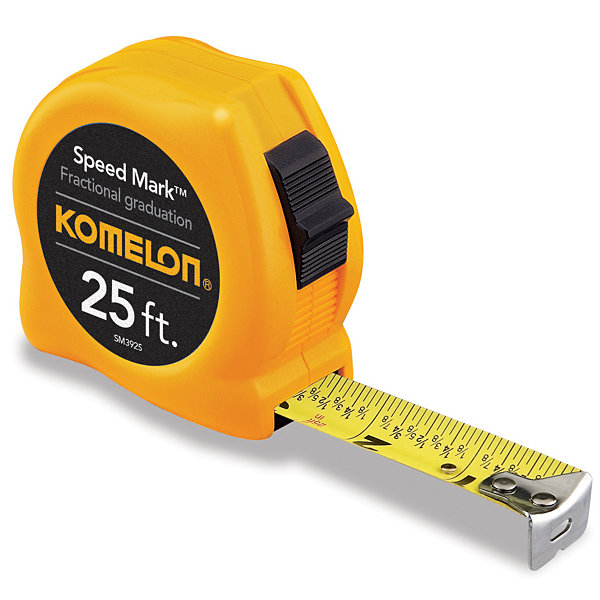 "Komelon Usa Sm3925 1"" X 25' Fractional Tape Measure"