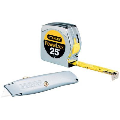 Stanley Hand Tools 90-082 25' Powerlock¨ Tape & Utility Knife Pack