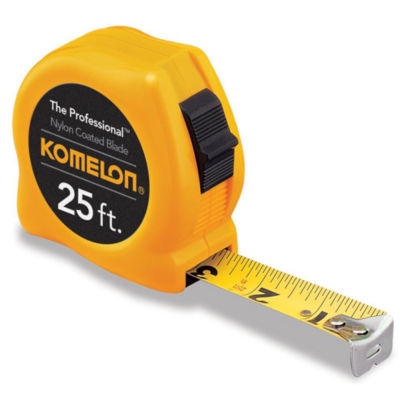 Komelon Usa 4925 25' X 1IN Yellow Power Tape Measure