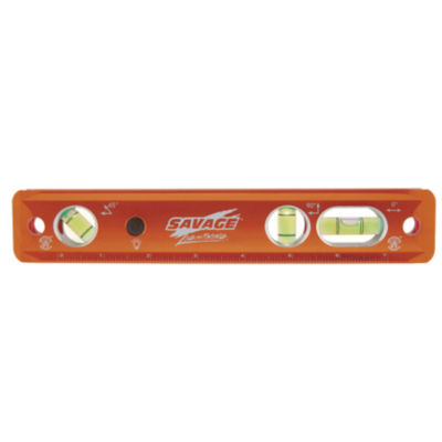 "Savage Tll049M 9"" Lightning Aluminum Magnetic Torpedo Luminated Level"