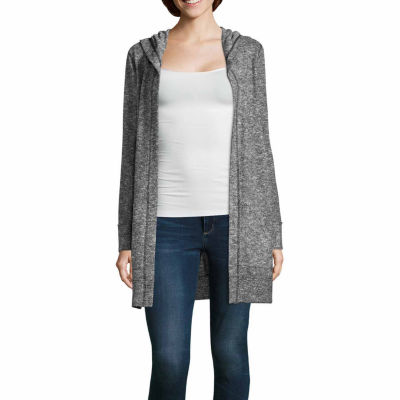 Project Runway Long Sleeve Hooded Cozy Cardigan