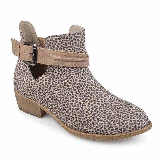 Journee Collection Womens Mavrik Booties Block Heel