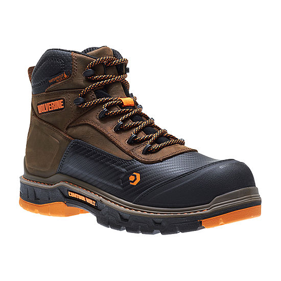 fb811c93e0f8 Wolverine Mens Overpass Lace Up Waterproof Slip Resistant Work Boots Lace-up  - JCPenney